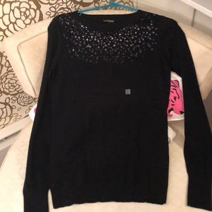 Never worn express black sweater with sequin